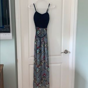 Lilly rose maxi dress with Aztec design